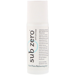 Sub Zero, Cool Pain Relieving Gel Roll-On, 3 fl oz (88.8 ml)