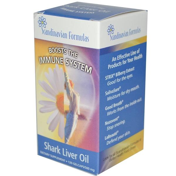 Scandinavian Formulas, Shark Liver Oil, 500 mg, 120 Gelcaps (Discontinued Item)