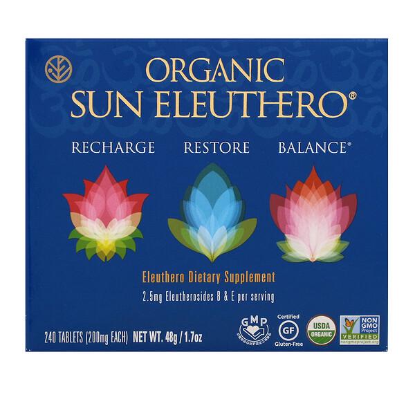 Organic Sun Eleuthero, 200 mg, 240 Tablets