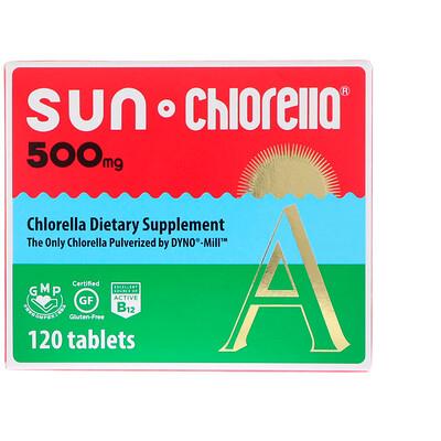 Sun Chlorella A, 500 мг, 120 таблеток high quality organic chlorella powder chlorella powder 10 1 200g