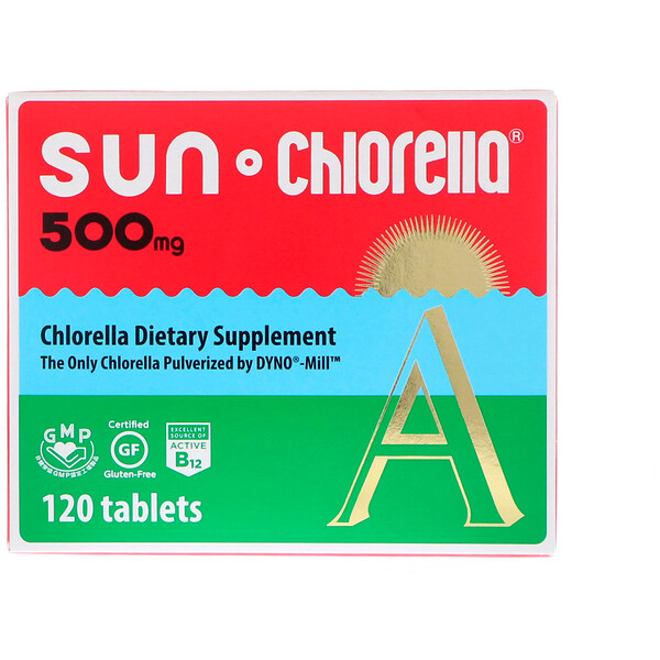 Sun Chlorella, A, 500 mg, 120 Tablets
