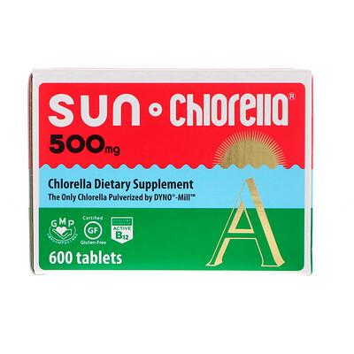 Sun Chlorella A, 500 мг, 600 таблеток комплекс био рутина 500 мг 500 мг 90 таблеток