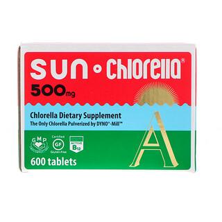 Sun Chlorella, كلوريلا الشمس أ، 500 ملغم، 600 حبة