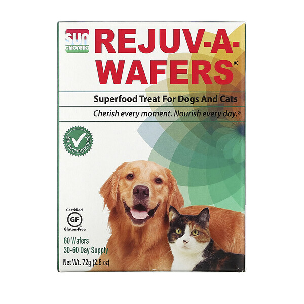 Rejuv-A-Wafers, Superfood Treat for Dogs & Cats, 60 Wafers
