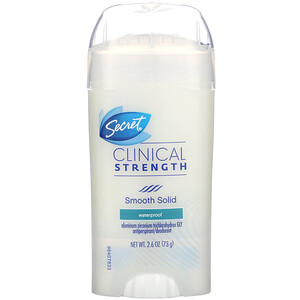 Secret, Clinical Strength, Antiperspirant/Deodorant, Soft Solid, Waterproof, 2.6 oz (73 g) отзывы
