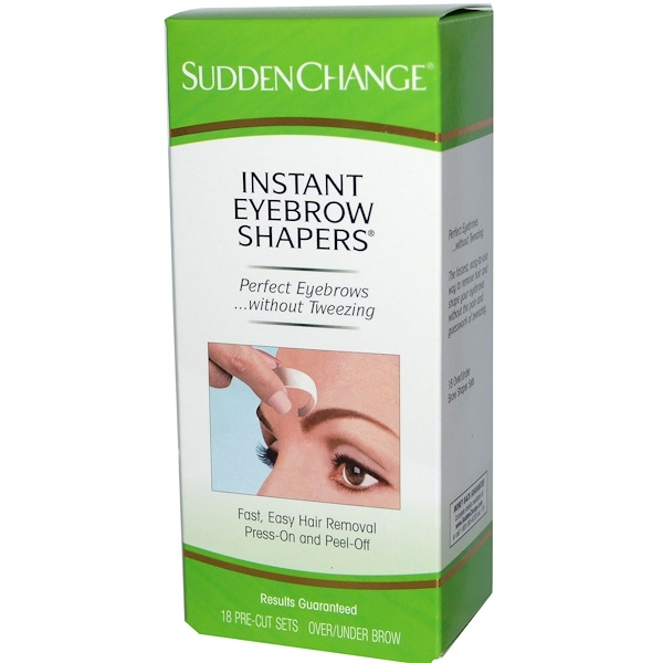 Sudden Change, Instant Eyebrow Shapers, 18 Pre-Cut Sets Over/Under Brow (Discontinued Item)