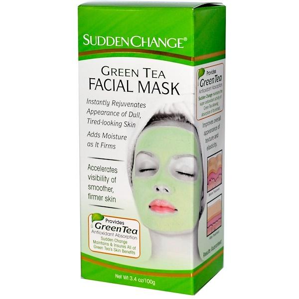 Sudden Change, Green Tea Facial Mask, 3.4 oz (100 g) (Discontinued Item)
