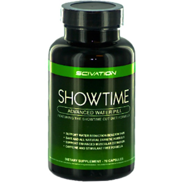 Scivation, ShowTime, Advanced Water Pill, 70 Capsules (Discontinued Item)