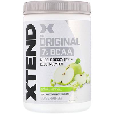 Xtend, The Original, 7г аминокислот с разветвленной цепью (BCAA), яблочный удар, 420г  - купить со скидкой