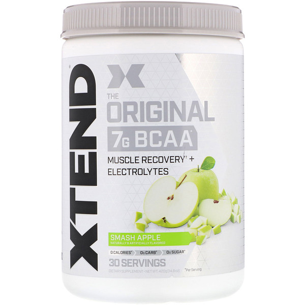 Xtend, The Original 7G BCAA, Smash Apple, 14.8 oz (420 g)