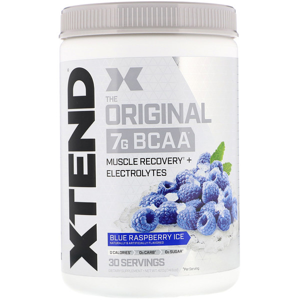 Scivation, Xtend, दि ओरिजिनल 7G BCAA, ब्लू रैस्पबैरी आइस, 14.8 आउंस (420 ग्राम)