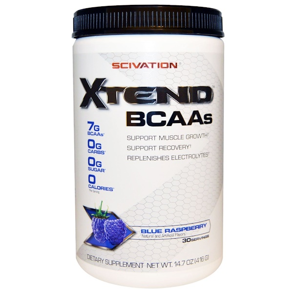 Scivation, XTend, BCAAs, Blue Raspberry, 14.7 oz (416 g)