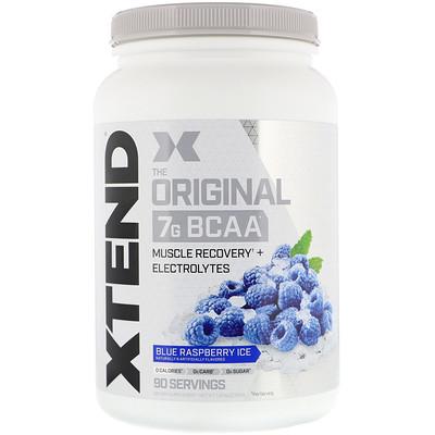 Купить Xtend, The Original, 7г аминокислот с разветвленной цепью (BCAA), фруктовый лед со вкусом голубой малины, 1, 26кг (2, 78фунта)