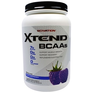 Scivation, Xtend, BCAAs, Blue Raspberry, 44.0 oz (1248 g)
