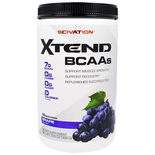 Scivation, Xtend, BCAAs, Grape, 13.8 oz (392 g)