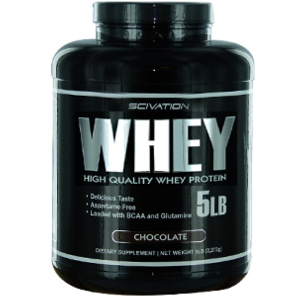 Scivation, Whey, High Quality Whey Protein, Chocolate, 5 lbs (2,272 g) (Discontinued Item)