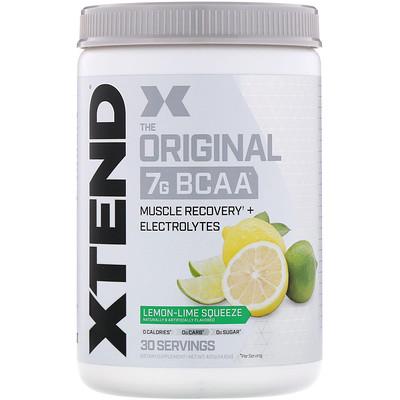 Xtend, The Original, 7г аминокислот с разветвленной цепью (BCAA), лимон-лайм, 420г цена 2017