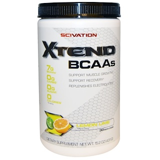 Scivation, Xtend, BCAAs, lima limón, 15.2 oz (431 g)