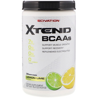 Scivation, Xtend, The Original 7G BCAA, Lemon-Lime Squeeze, 14.8 oz (420 g)