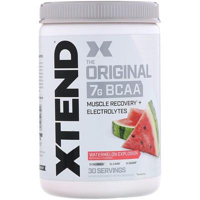 Xtend, The Original, 7г аминокислот с разветвленной цепью (BCAA), арбузный взрыв, 390г (13,7унций) scitec nutrition bcaa express 7 г
