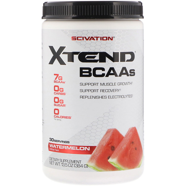 Scivation, Xtend、BCAA、スイカ、13.5オンス (384 g)