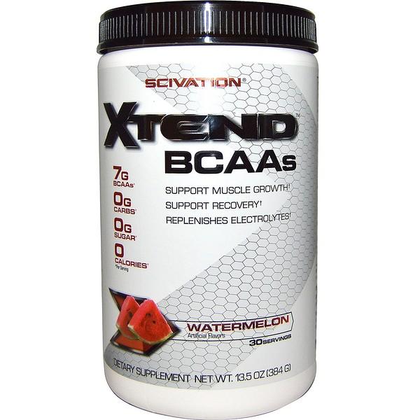 Scivation, Xtend BCAAs, Sandía, 13.5 oz (384 g)