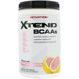Scivation, Xtend, BCAAs, Pink Lemonade, 15.0 oz (426 g)