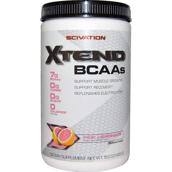 Scivation, Xtend, BCAAs, Pink Lemonade, 15.0 oz (426 g)