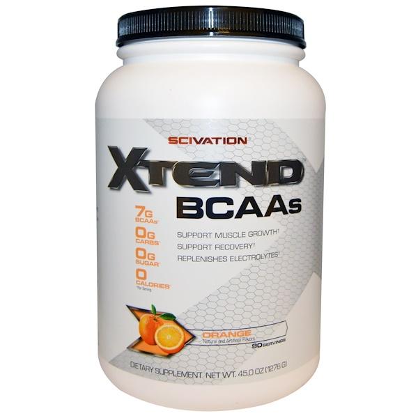 Scivation, Xtend, BCAAs, Orange, 45.0 oz (1276 g) (Discontinued Item)