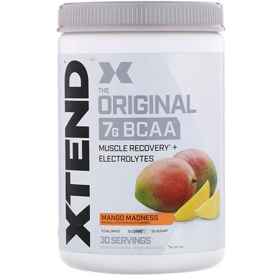 Xtend, The Original, 7г аминокислот с разветвленной цепью (BCAA), манго, 420г (14,8унции)