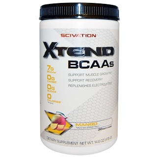 Scivation, XTend, BCAA, Mangue, 14,6 oz (415 g)