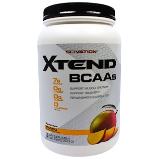 Scivation, Xtend, BCAA, Mango, 43,8 onzas (1243)