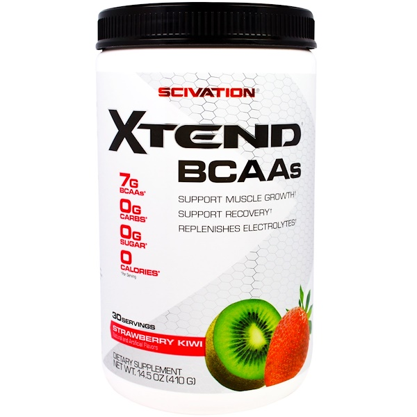 Scivation, Xtend, BCAAs, Strawberry Kiwi, 14.5 oz (410 g)