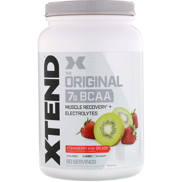 Xtend, The Original 7G BCAA, Strawberry Kiwi Splash, 2.78 lb (1.26 kg)