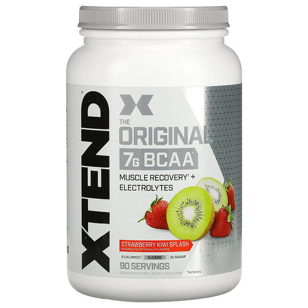 The Original, 7 g de BCAA, Splash de Morango e Kiwi, 1,26 kg (2,78 lb)