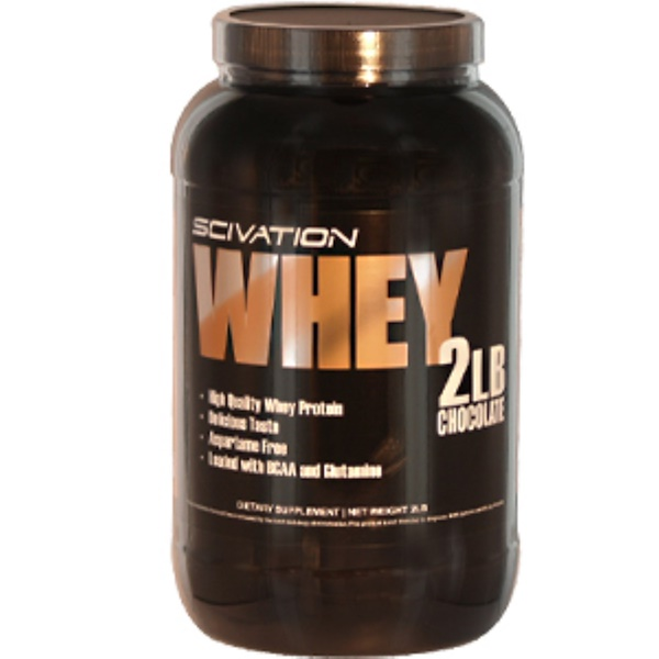 Scivation, Whey, High Quality Whey Protein, Chocolate, 2 lbs (Discontinued Item)