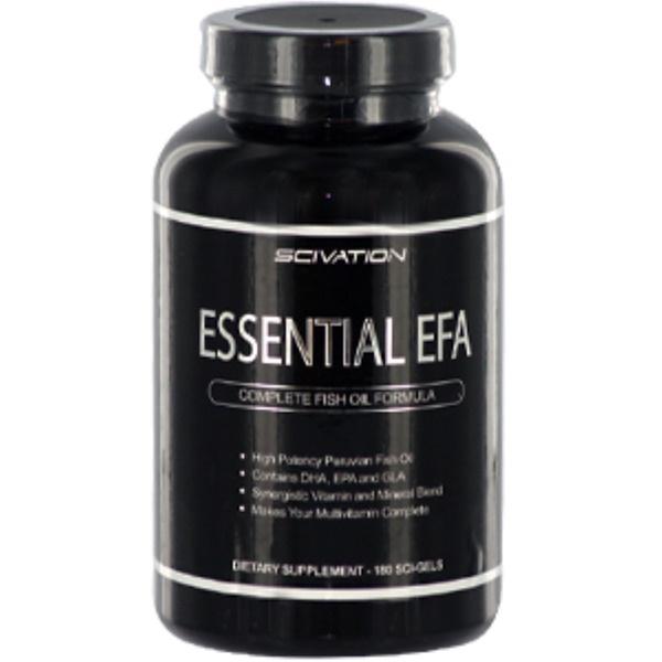 Scivation, Essential EFA, Complete Fish Oil Formula, 180 Sci-Gels (Discontinued Item)