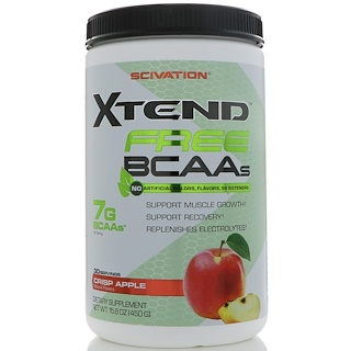 Scivation, Xtend Free BCAAs, Manzana crujiente, 15.8 oz (450 g)
