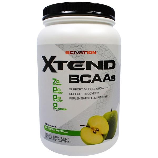 Scivation, Ampliar, aminoácidos ramificados (BCAAs), manzana verde, 42,1 onzas (1194 g)