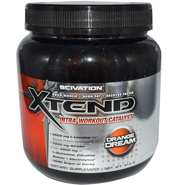 Scivation, Xtend, комплекс для тренировок, Catalyst, вкус апельсин 414 г (Discontinued Item)