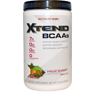 Scivation, Xtend, BCAAs, Fruit Punch, 13.9 oz  (396 g)