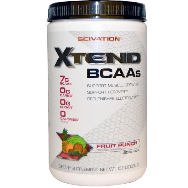Scivation, إكستند، BCAAs، مشروب فاكهة، 13.9 أونصة (396 جم)