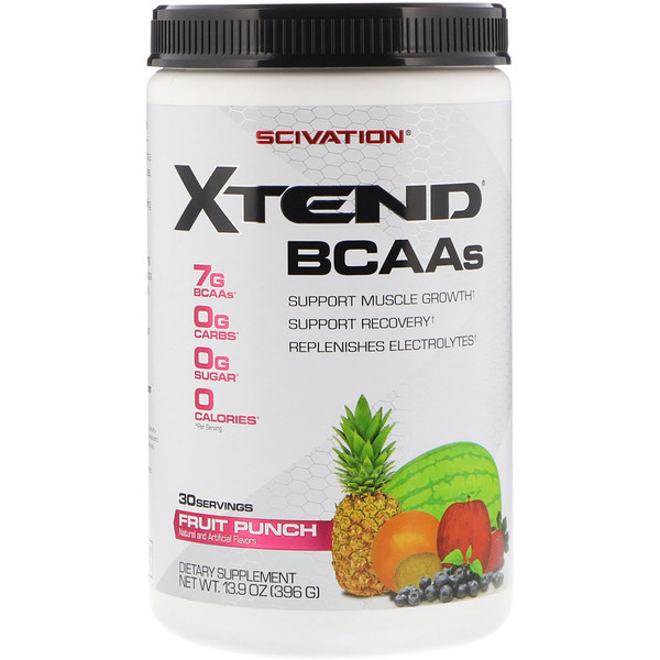 Scivation, Xtend, BCAAs, Fruit Punch, 13、9 oz  (396 g)