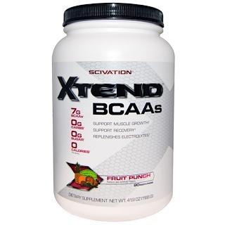 Scivation, Xtend, BCAAs, Fruit Punch, 41.9 oz (1188 g)