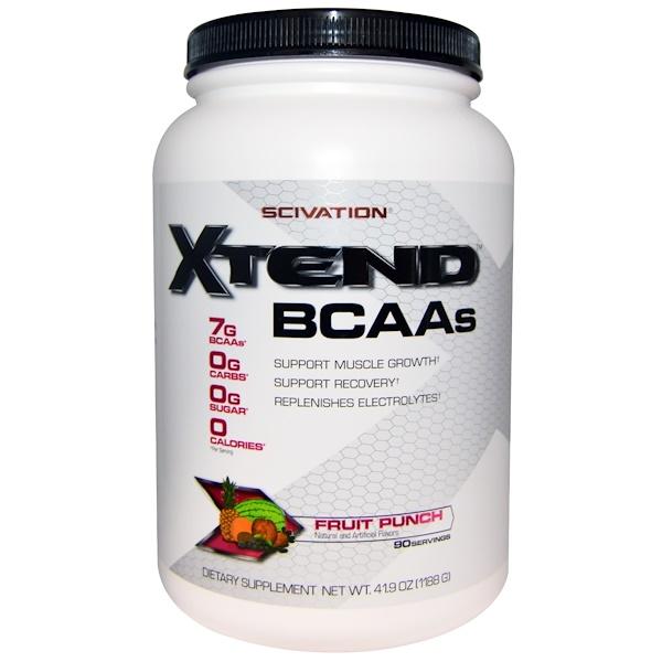 Scivation, Xtend、BCAAs、フルーツパンチ、41.9 oz (1188 g)