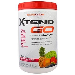 Scivation, Xtend GO, Энергия + Аминокислоты, Фруктовый пунш, 14,39 унций (408 г)