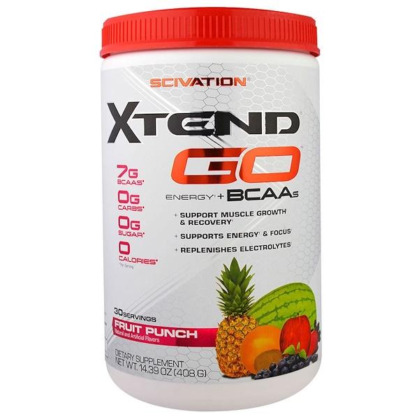 Xtend, Xtend GO, Energy + BCAAs, Fruit Punch, 14.39 oz (408 g) (Discontinued Item)