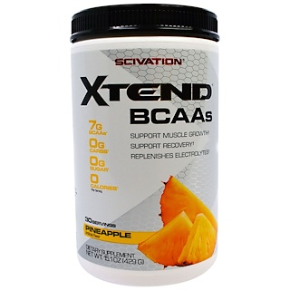 Scivation, Xtend, BCAAs, Pineapple, 15.1 oz (429 g)