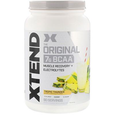 Купить Xtend The Original, 7г аминокислот с разветвленной цепью (BCAA), со вкусом тропических фруктов, 1, 26кг (2, 78фунта)