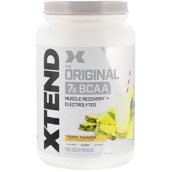 Scivation, Xtend, दि ओरिज़नल 7G BCAA, ट्रोपिक थंडर, 2.78 पाउंड (1.26 किग्रा)
